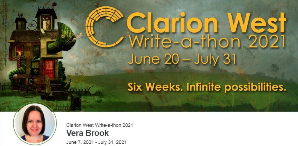 Vera Brook at Clarion West writeathon 2021